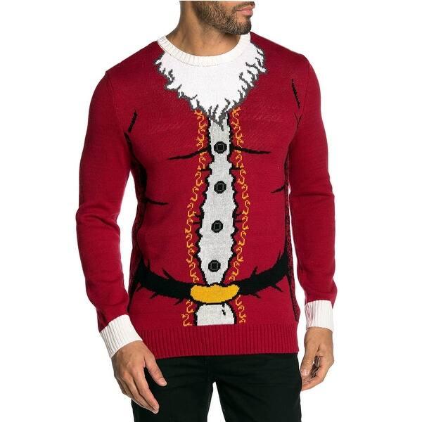 Ugly Christmas Sweater Mens Santa Claws