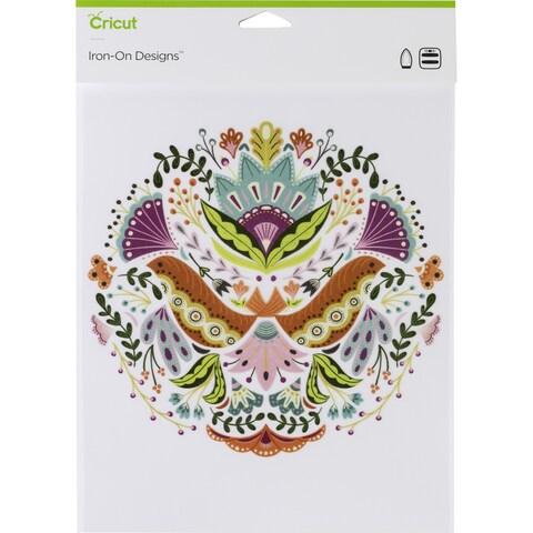 "Cricut Iron On Designs 8.5""X12""-Floral Mandala-Large"