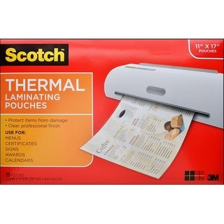 Scotch Thermal Laminating Pouch 11.4x17.4 25p