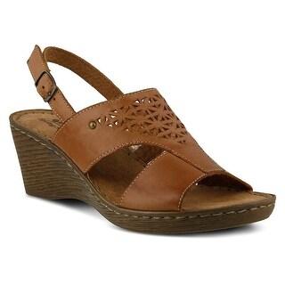 Spring Step Womens Travel Katia Sandal - Brown Leather