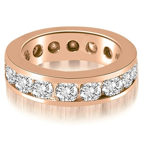 4.00 cttw. 14K Rose Gold Round Channel Eternity Ring