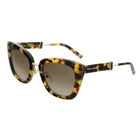 Marc Jacobs MARC131S 000F Spotted Havana Square Sunglasses - 53-23-140