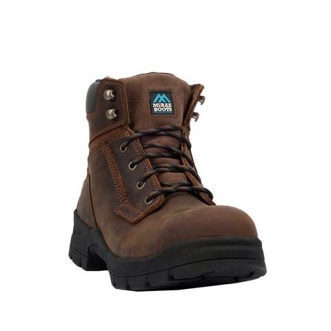 "McRae Industrial Work Boots Womens 6"" Shaft Alloy Toe Brown"