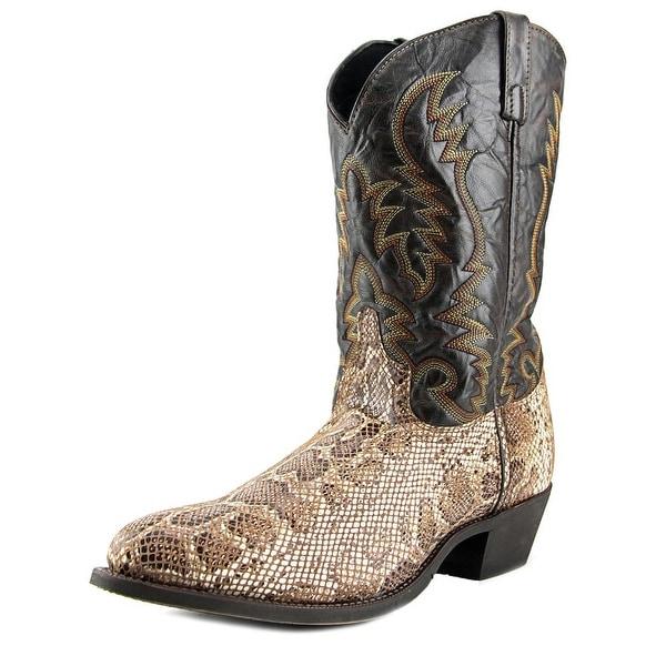 "Laredo Burton 12"" Cowboy Round Toe Leather Western Boot"