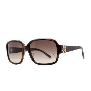 Mont Blanc MB 358/S 56F Havana Rectangular Sunglasses