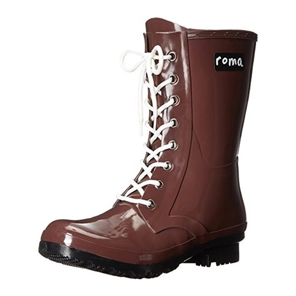 Roma Womens Epaga Rain Boots Rubber Lace Up