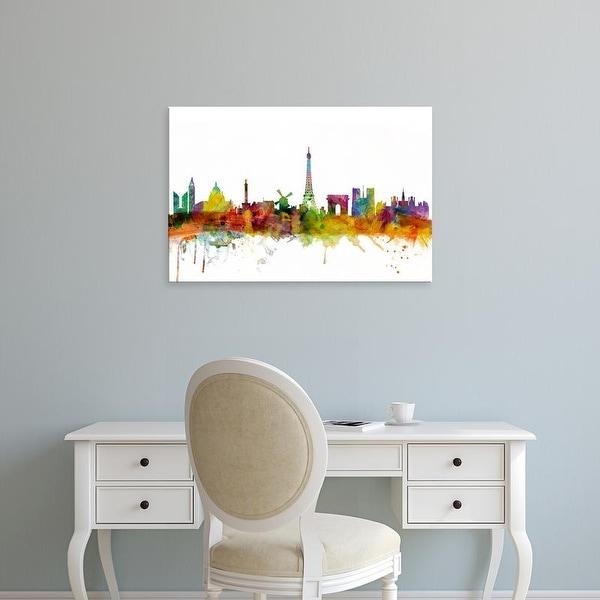 Easy Art Prints Michael Tompsett's 'Paris France Skyline' Premium Canvas Art