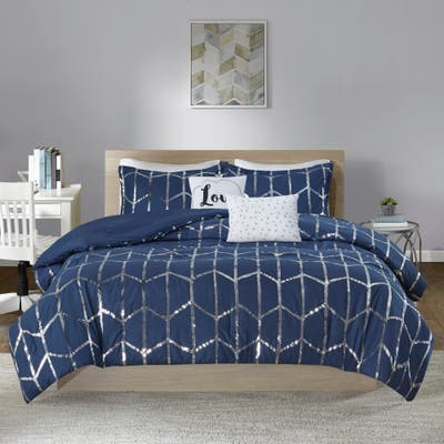 Intelligent Design Khloe 5-piece Metallic Printed Comforter Set