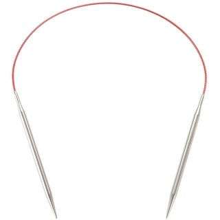 """Red Lace Stainless Steel Circular Knitting Needles 16"""" -Size 0/2Mm"""