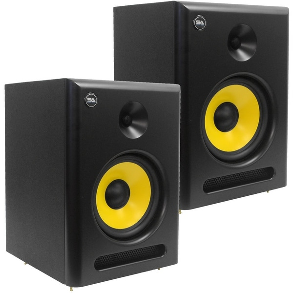 shop seismic audio pair of active 8 inch studio reference monitors 95 watts rms free. Black Bedroom Furniture Sets. Home Design Ideas