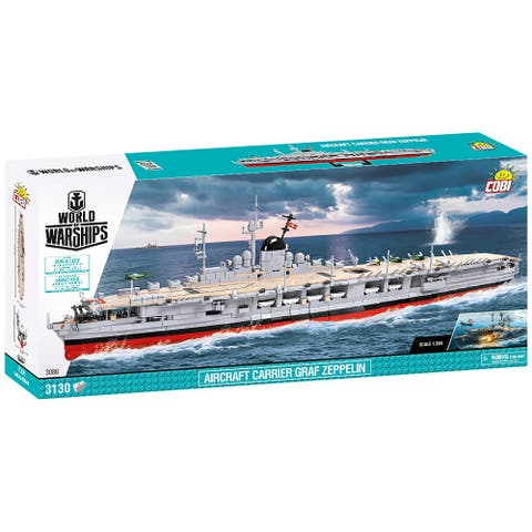 COBI Small Army WOW Aircraft Carrier GRAF Zeppelin 3130 Piece Construction Blocks Building Kit