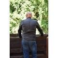 Men Moto Style Leather Jacket Black FJ2 - Thumbnail 3