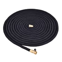 Costway 100FT Expanding Flexible Water Hose Pipe Home Garden Hose Watering Black