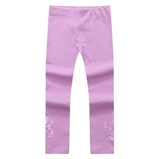 Richie House Baby Girls Purple Shiny Sequined Leggings 12M-24M