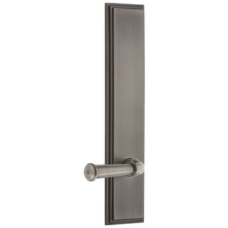 Grandeur CARGEO_TP_PRV_238_LH  Carre Solid Brass Tall Plate Rose Left Handed Privacy Door Lever Set with Georgetown Lever and
