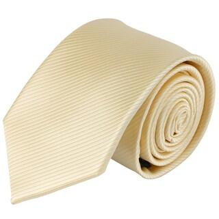 Jacob Alexander Men's Tone on Tone Corded Slim Neck Tie - One size