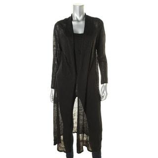 Eileen Fisher Womens Petites Petite Linen Crepe Cardigan Sweater - pm
