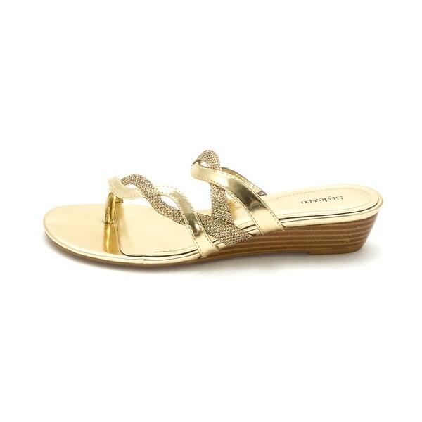 Style & Co. Womens Highlin Split Toe Casual Platform Sandals