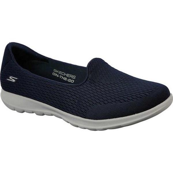 907fbeff8355 Shop Skechers Women's GOwalk Lite Shanti Slip-On Walking Shoe Navy/Gray -  On Sale - Free Shipping Today - Overstock - 19114154