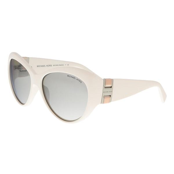 Michael Kors MK2002 WAIKIKI 303045 Matte Ivory Cateye Sunglasses - 60-16-125