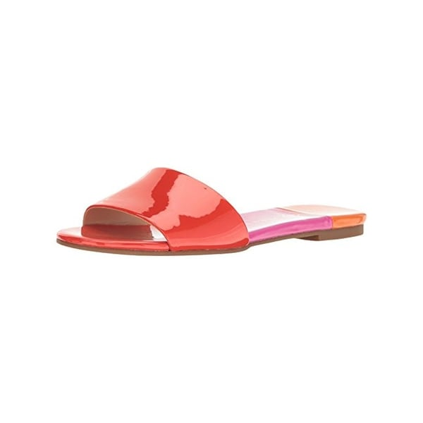 Katy Perry Womens The Rossi Slide Sandals Colorblock Open Toe
