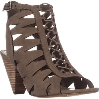 Vince Camuto Womens Elettra Leather Peep Toe Casual Ankle Strap Sandals