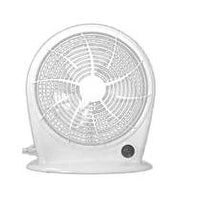 Optimus 10 in. Personal Fan Stylish 3 Speed Energy - White - F1030