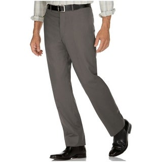 Calvin Klein CK Slim Fit Brown Dress Pants 34W x 34L Flat Front Trousers