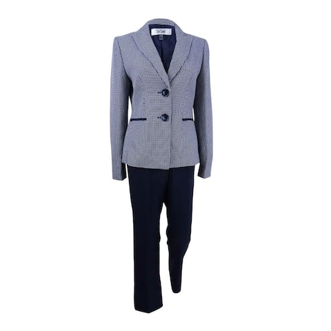 Le Suit Women's Tweed Two-Button Pantsuit