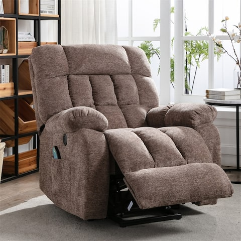 Electric lift heavy recliner with heat therapy and massage,Living room