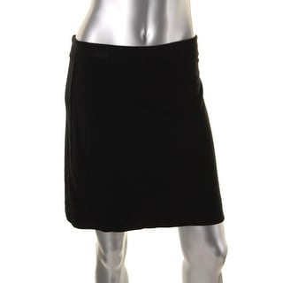Studio M Womens Stretch Pull On Mini Skirt
