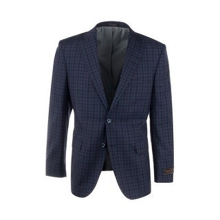 Link to Dolcetto Navy Blue with Black and Purple Check Pattern Modern Fit, Pure Wool Jacket by Tiglio Luxe 74274/5 Similar Items in Sportcoats & Blazers