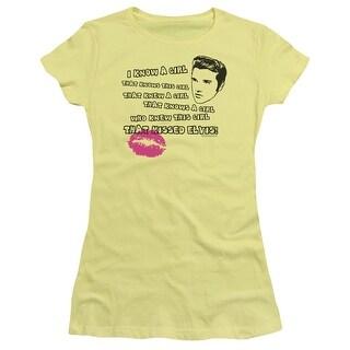 Elvis Kissed Elvis Juniors Short Sleeve Shirt (4 options available)