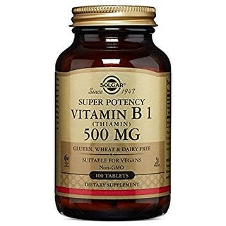 Solgar Vitamin B1 (Thiamin) 500 mg (100 Tablets)