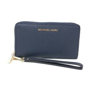 b1a28d44a2a4 Michael Kors Jet Set Travel Large Multifunction Smartphone Saffiano Leather  Wristlet Case