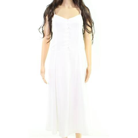 CAD Cloud White Womens Size Medium M Solid V-Neck Sheath Dress
