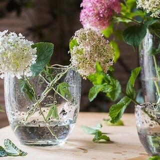 RusticReach Clear Art Glass Vase