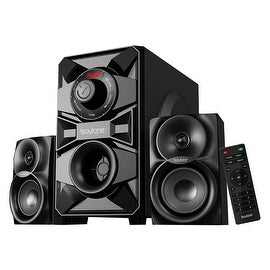 Boytone BT-328F, 2.1 Wireless Bluetooth Multi Media speaker, powerful home theater speaker systems, FM Radio, SD, USB ports, AUX