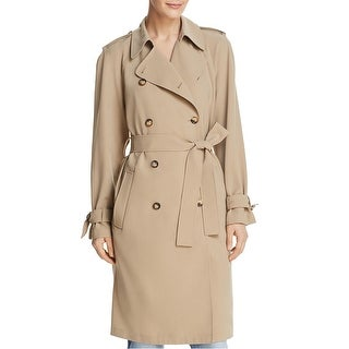 Link to Dylan Gray Womens Solid Trench Coat, beige, P Similar Items in Women's Outerwear