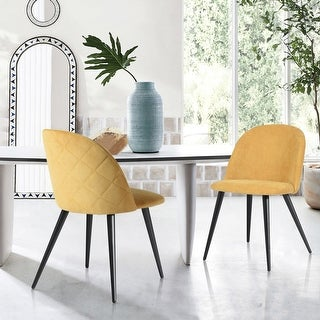 Link to Carson Carrington Mid-Century Modern Velvet Dining Chair Set of 2 Similar Items in Decorative Accessories
