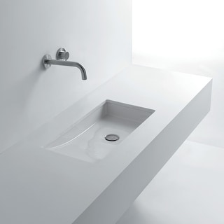 """WS Bath Collections Om in 68  26-4/5"""" Ceramic Undermount Bathroom Sink from the Whitestone Collection - White"""