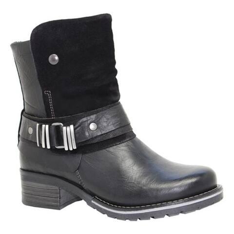 Dromedaris Women's Kikka Biker Boot Black Leather