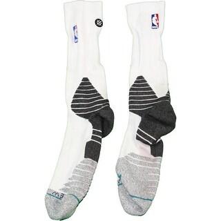 Donald Sloan Socks Brooklyn Nets 201516 Game Used 15 Grey Black and White Socks