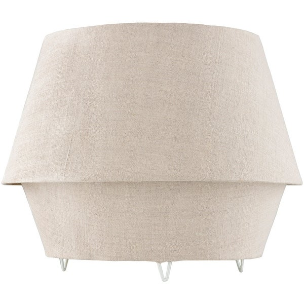 Mahala Ivory Linen Fabric Covered Table Lamp. Opens flyout.
