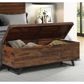 Broadmore 46-inch Acacia Wood Storage Bench