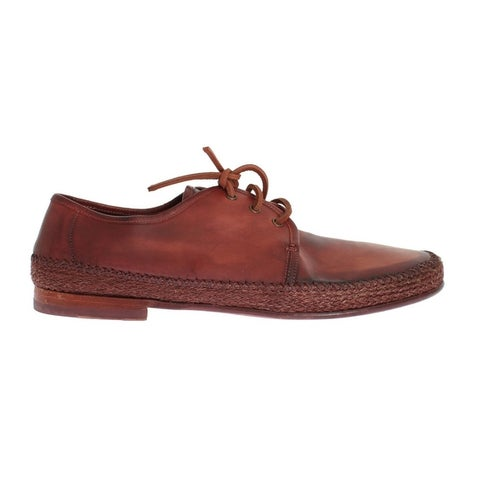 Dolce & Gabbana Dolce & Gabbana Bordeaux Leather Casual Shoes - eu44-us11