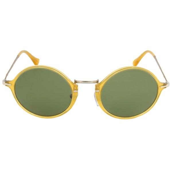 2fa4672caa Shop Persol PO3091SM 204 P1 Round Polarized Sunglasses - Free ...