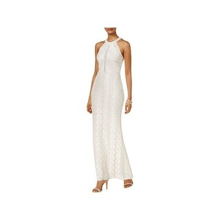 Nightway Womens Evening Dress Lace Illusion