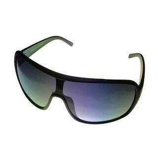 Perry Ellis Mens Sunglass PE11 1 Black Plastic Shield, Smoke Gradient Lens - Medium
