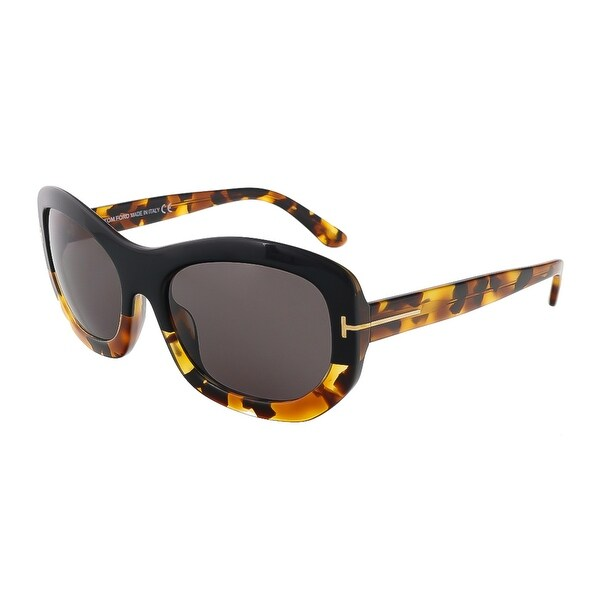 Tom Ford FT0382/S 05A Amy Black/Tortoise Rectangle Sunglasses - 57-19-140